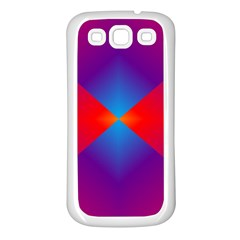Geometric Blue Violet Red Gradient Samsung Galaxy S3 Back Case (white)