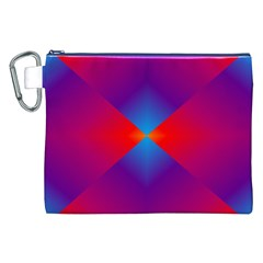 Geometric Blue Violet Red Gradient Canvas Cosmetic Bag (xxl)