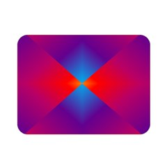 Geometric Blue Violet Red Gradient Double Sided Flano Blanket (mini)