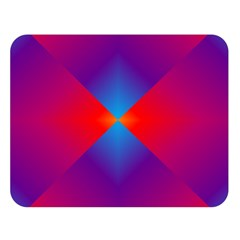 Geometric Blue Violet Red Gradient Double Sided Flano Blanket (large)