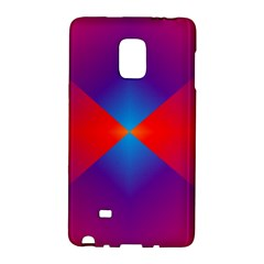 Geometric Blue Violet Red Gradient Galaxy Note Edge