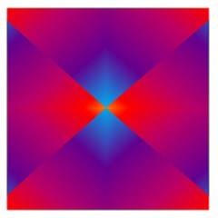 Geometric Blue Violet Red Gradient Large Satin Scarf (square)