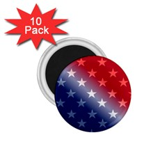 America Patriotic Red White Blue 1 75  Magnets (10 Pack)