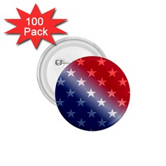 America Patriotic Red White Blue 1 75  Buttons (100 Pack)