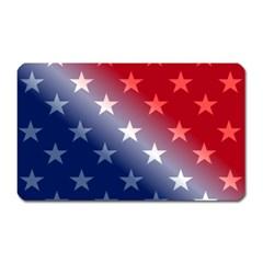 America Patriotic Red White Blue Magnet (rectangular)