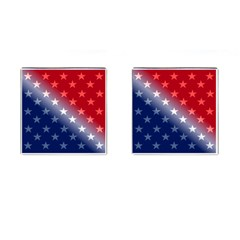 America Patriotic Red White Blue Cufflinks (square)