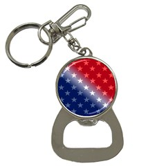 America Patriotic Red White Blue Button Necklaces