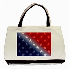 America Patriotic Red White Blue Basic Tote Bag (two Sides)