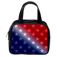 America Patriotic Red White Blue Classic Handbags (one Side)