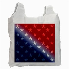 America Patriotic Red White Blue Recycle Bag (two Side)