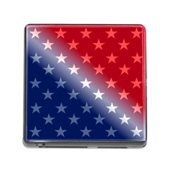 America Patriotic Red White Blue Memory Card Reader (square)