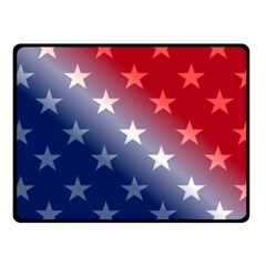 America Patriotic Red White Blue Fleece Blanket (small)
