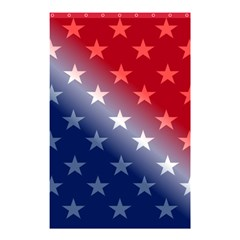 America Patriotic Red White Blue Shower Curtain 48  X 72  (small)