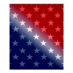 America Patriotic Red White Blue Shower Curtain 60  X 72  (medium)