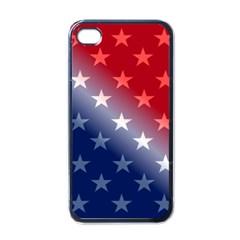 America Patriotic Red White Blue Apple Iphone 4 Case (black)