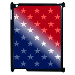 America Patriotic Red White Blue Apple Ipad 2 Case (black)