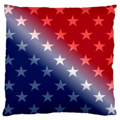 America Patriotic Red White Blue Large Cushion Case (two Sides)