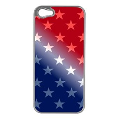 America Patriotic Red White Blue Apple Iphone 5 Case (silver)