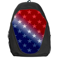 America Patriotic Red White Blue Backpack Bag