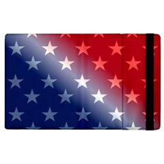 America Patriotic Red White Blue Apple Ipad 3/4 Flip Case