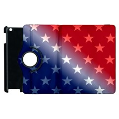 America Patriotic Red White Blue Apple Ipad 3/4 Flip 360 Case