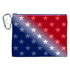 America Patriotic Red White Blue Canvas Cosmetic Bag (xxl)