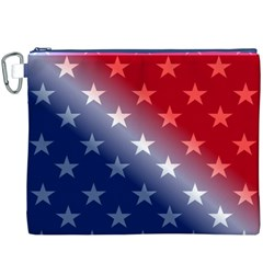 America Patriotic Red White Blue Canvas Cosmetic Bag (xxxl)