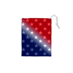 America Patriotic Red White Blue Drawstring Pouches (xs)