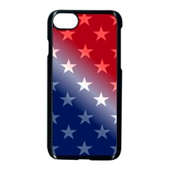 America Patriotic Red White Blue Apple Iphone 8 Seamless Case (black)