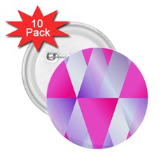 Gradient Geometric Shiny Light 2 25  Buttons (10 Pack)