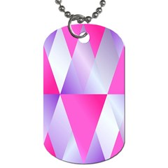 Gradient Geometric Shiny Light Dog Tag (two Sides)