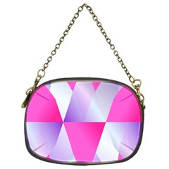 Gradient Geometric Shiny Light Chain Purses (two Sides)