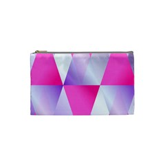 Gradient Geometric Shiny Light Cosmetic Bag (small)