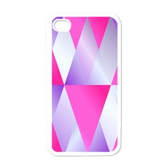 Gradient Geometric Shiny Light Apple Iphone 4 Case (white)
