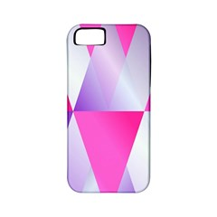 Gradient Geometric Shiny Light Apple Iphone 5 Classic Hardshell Case (pc+silicone)