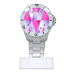 Gradient Geometric Shiny Light Plastic Nurses Watch
