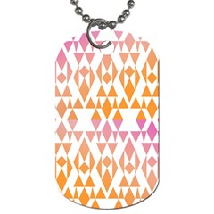 Geometric Abstract Orange Purple Dog Tag (one Side)