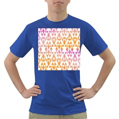 Geometric Abstract Orange Purple Dark T Shirt
