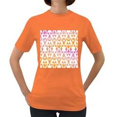 Geometric Abstract Orange Purple Women s Dark T Shirt