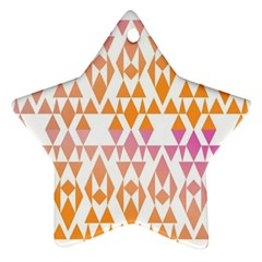 Geometric Abstract Orange Purple Star Ornament (two Sides)