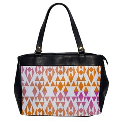 Geometric Abstract Orange Purple Office Handbags