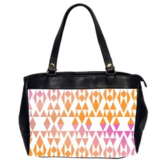 Geometric Abstract Orange Purple Office Handbags (2 Sides)