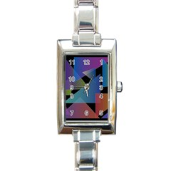 Triangle Gradient Abstract Geometry Rectangle Italian Charm Watch