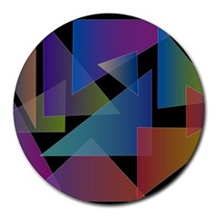 Triangle Gradient Abstract Geometry Round Mousepads