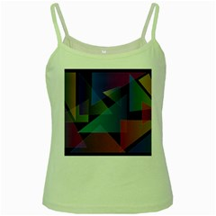 Triangle Gradient Abstract Geometry Green Spaghetti Tank
