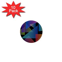 Triangle Gradient Abstract Geometry 1  Mini Magnet (10 Pack)