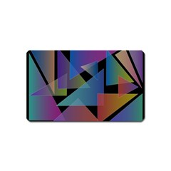 Triangle Gradient Abstract Geometry Magnet (name Card)
