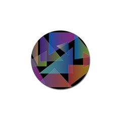 Triangle Gradient Abstract Geometry Golf Ball Marker (4 Pack)