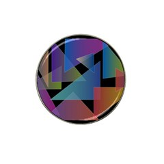 Triangle Gradient Abstract Geometry Hat Clip Ball Marker