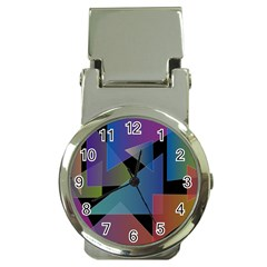 Triangle Gradient Abstract Geometry Money Clip Watches